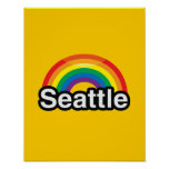 ARCO IRIS DEL ORGULLO DE SEATTLE LGBT IMPRESIONES
