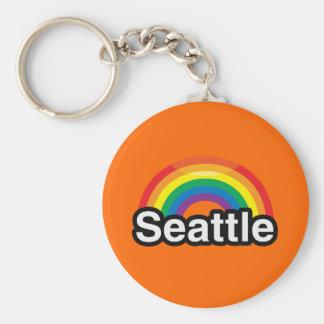 ARCO IRIS DEL ORGULLO DE SEATTLE LGBT LLAVEROS PERSONALIZADOS