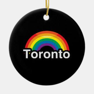 ARCO IRIS DEL ORGULLO DE TORONTO LGBT ADORNO DE NAVIDAD