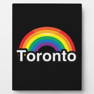 ARCO IRIS DEL ORGULLO DE TORONTO LGBT PLACAS CON FOTOS