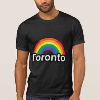 ARCO IRIS DEL ORGULLO DE TORONTO LGBT CAMISETA