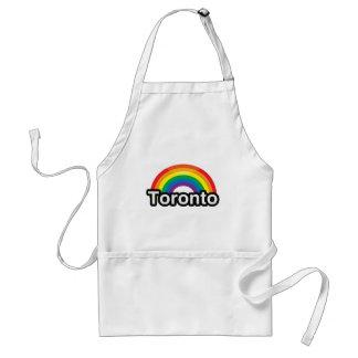 ARCO IRIS DEL ORGULLO DE TORONTO LGBT - .PNG DELANTAL