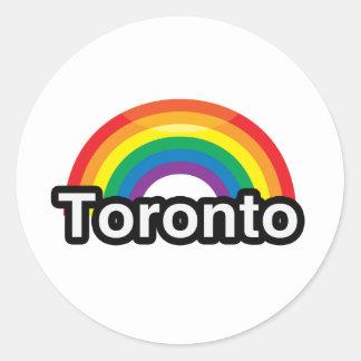 ARCO IRIS DEL ORGULLO DE TORONTO LGBT - .PNG PEGATINA REDONDA