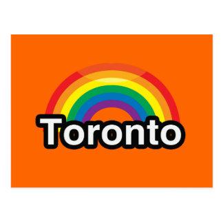 ARCO IRIS DEL ORGULLO DE TORONTO LGBT TARJETAS POSTALES