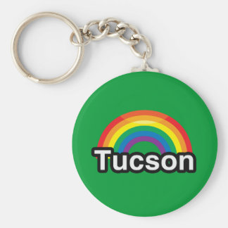 ARCO IRIS DEL ORGULLO DE TUCSON LGBT LLAVERO PERSONALIZADO