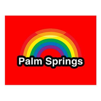 ARCO IRIS DEL ORGULLO DEL PALM SPRINGS LGBT POSTAL