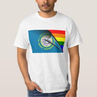 Arco iris del orgullo gay de la bandera de Dakota Camisas