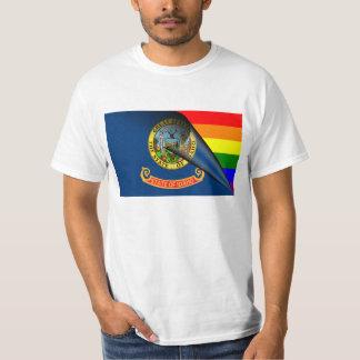 Arco iris del orgullo gay de la bandera de Idaho Camisas