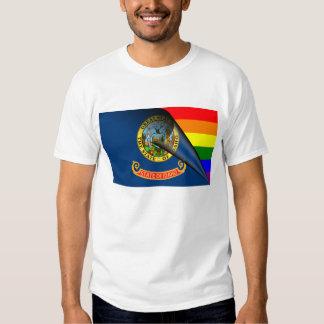 Arco iris del orgullo gay de la bandera de Idaho Remera