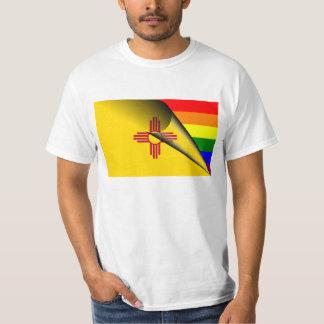Arco iris del orgullo gay de la bandera de New Polera