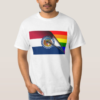 Arco iris del orgullo gay de la bandera de playera