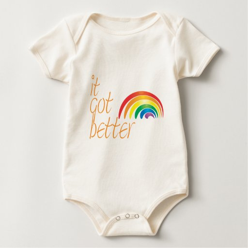 Arco iris del orgullo gay de la tolerancia body para bebé