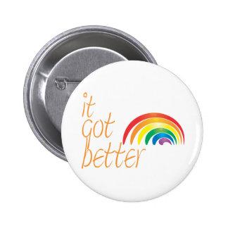Arco iris del orgullo gay de la tolerancia pin redondo 5 cm