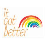Arco iris del orgullo gay de la tolerancia postal