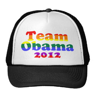 Arco iris del orgullo gay de Obama del equipo Gorros Bordados