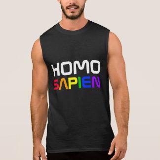 Arco iris del orgullo gay de Sapien del homo Camiseta Sin Mangas