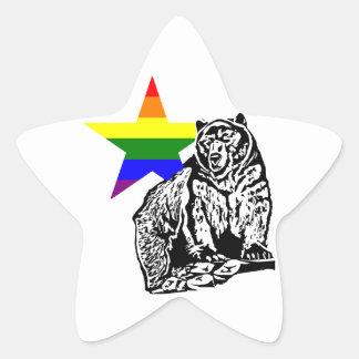 Arco iris del oso grizzly de Kris Alan Pegatina