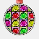 Arco iris del paprika ornamentos de navidad