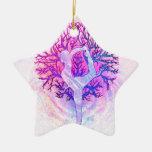 Arco iris del pastel del árbol de la yoga ornato
