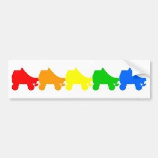 arco iris del patín de ruedas pegatina de parachoque