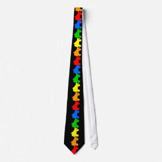 arco iris del patín de ruedas corbata personalizada