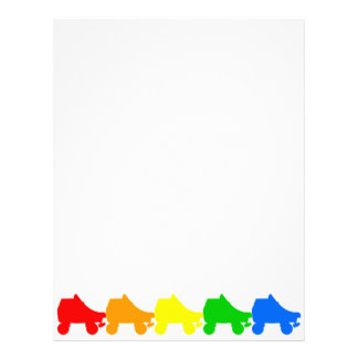 arco iris del patín de ruedas membrete a diseño