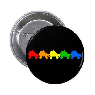 arco iris del patín de ruedas pin