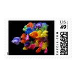 Arco iris del pez papagayo sellos