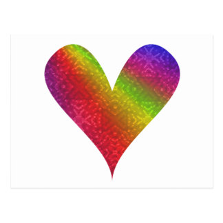 Arco iris del Pintura-mi-Corazón Tarjetas Postales