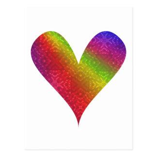 Arco iris del Pintura-mi-Corazón Postales
