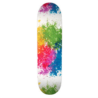 "Arco iris del polvo del color patineta 7 3/8"""