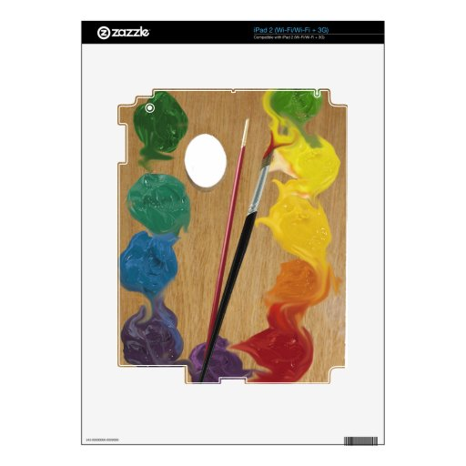 Arco iris del rectángulo de la paleta del artista skins para eliPad 2
