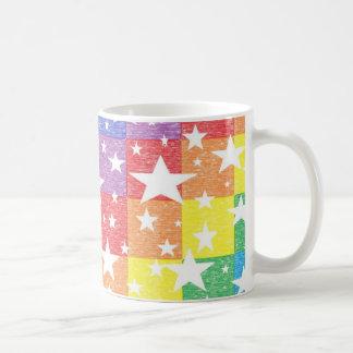 Arco iris del remiendo y taza de las estrellas