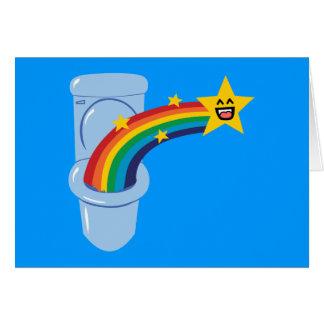 Arco iris del retrete tarjeta de felicitación