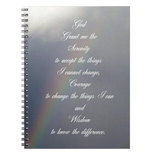 Arco iris del rezo de la serenidad libro de apuntes