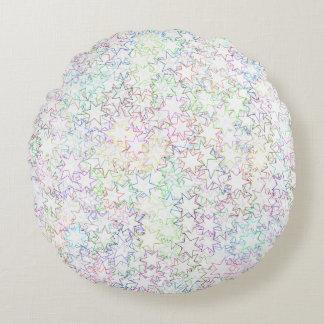 Arco iris del rosa del chica de Kawaii y cúmulo de