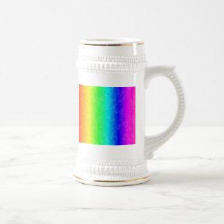 Arco iris del salpicón jarra de cerveza
