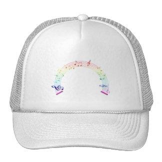 Arco iris del semicírculo del personal de la músic gorra