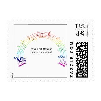 Arco iris del semicírculo del personal de la músic