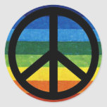 arco iris del símbolo de paz pegatina