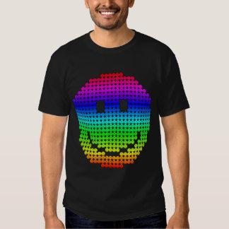 Arco iris del smiley de Borg Polera