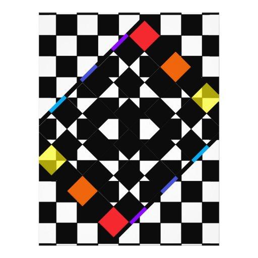 Arco iris del tablero de damas tarjetas informativas