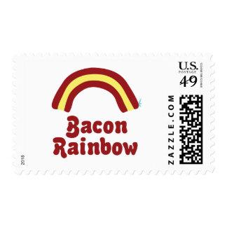 Arco iris del tocino timbre postal