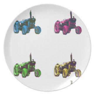 arco iris del tractor plato para fiesta