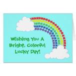 Arco iris del trébol felicitacion
