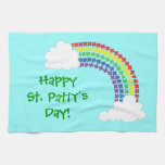 Arco iris del trébol toalla