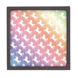 Arco iris del unicornio cajas de regalo de calidad