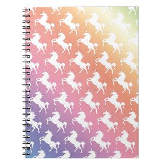 Arco iris del unicornio cuaderno