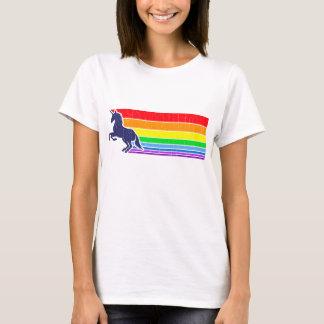 arco iris del unicornio del vintage de los años 80 playera