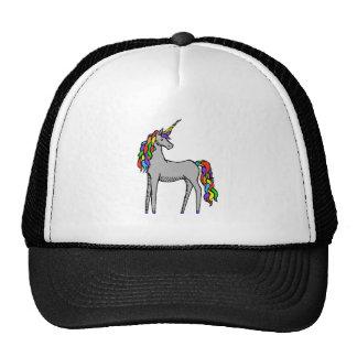 Arco iris del unicornio gorras